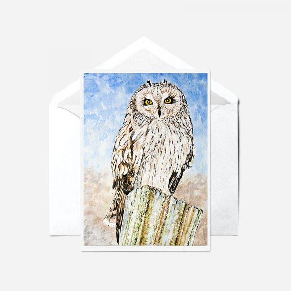 Short-eared Owl - Card
