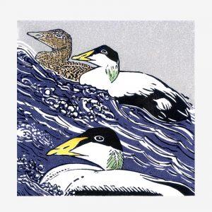 Shetland Wren - Linocut