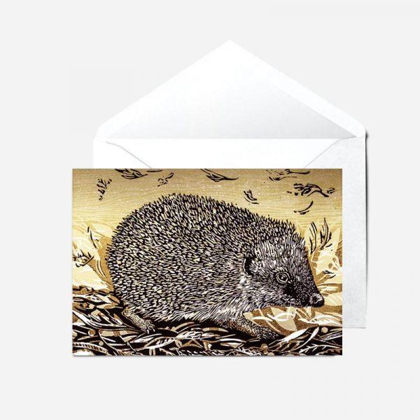 Autumn Hedgehog- Card