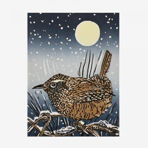 Shetland Patterns-linocut